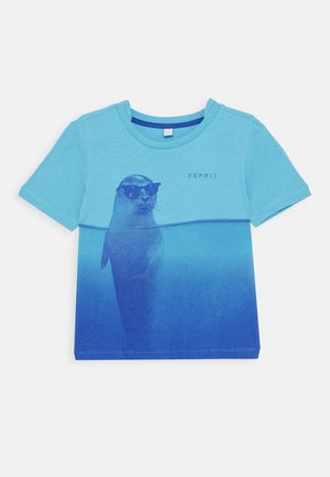 TEE - Print T-shirt - aqua