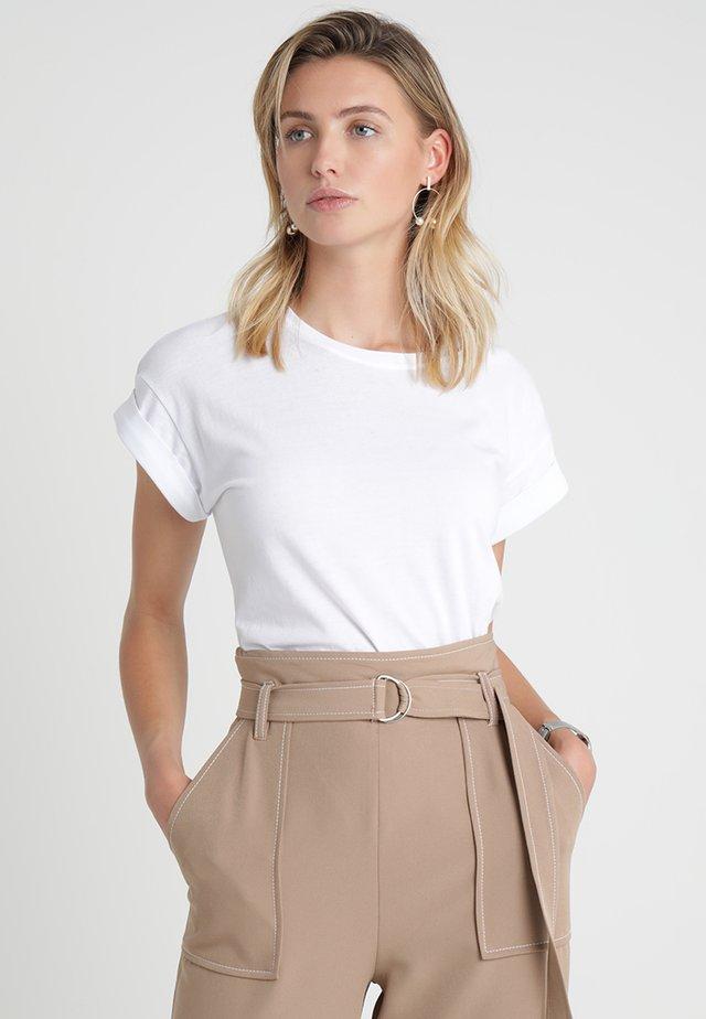ALVA PLAIN TEE - Jednoduché triko - white