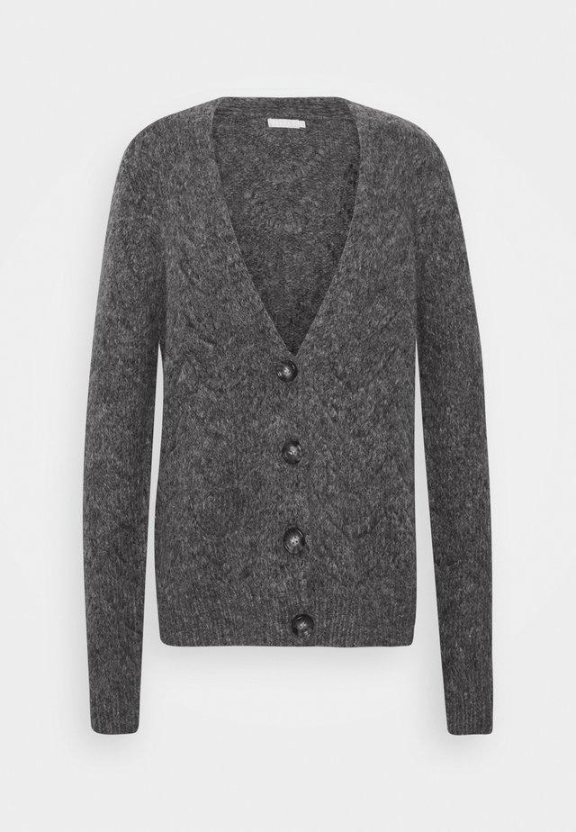 PCBIBI CARDIGAN - Vest - dark grey melange