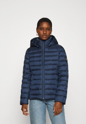 COATED ZIP LIGHT JACKET - Daunenjacke - navy