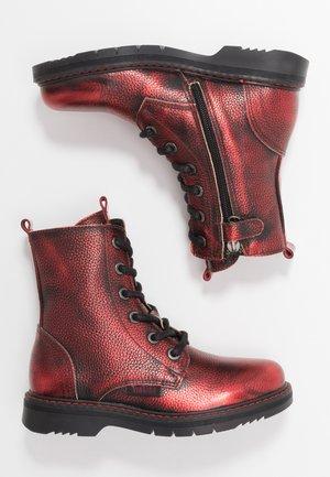 DORY - Šněrovací kotníkové boty - dark red