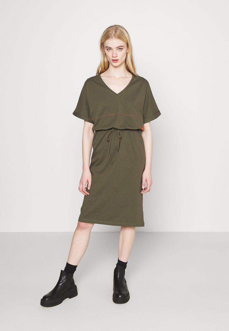 G-Star - ADJUSTABLE WAIST DRESS - Jersey dress - khaki