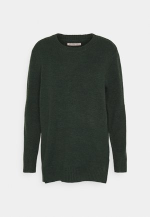LONG LINE JUMPER - Sweter - dark green