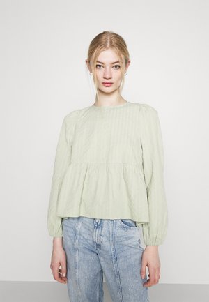 MARIA PEPLUM BLOUSE - Pitkähihainen paita - green dusty light