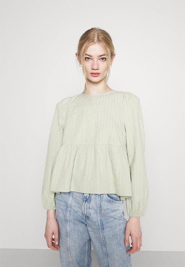 MARIA PEPLUM BLOUSE - Maglietta a manica lunga - green dusty light