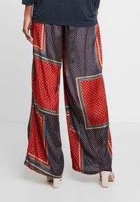 Kaffe - MEDA WIDE PANTS - Trousers - orion blue - 3