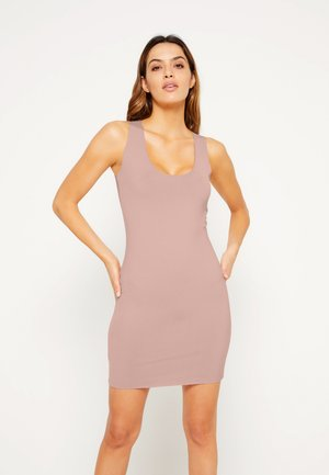 RAW EDGE SLINKY RACER MINI DRESS - Vestido informal - rose