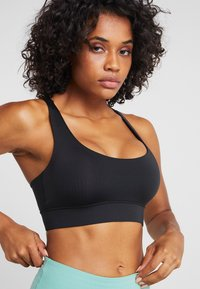 Hey Honey - CRISS CROSS BRA BORDAUX - Sports bra - black - 5