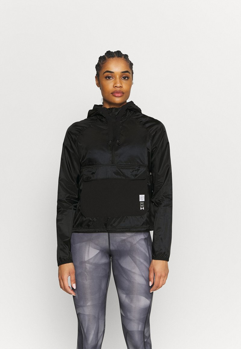 Under Armour - RUN ANYWHERE ANORAK - Giacca da corsa - black