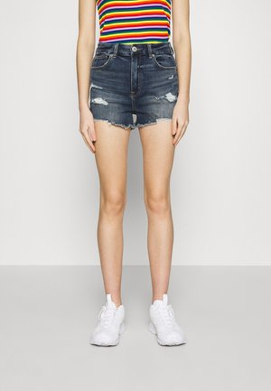 CURVY SHORTIE - Denim shorts - medium tinted indigo