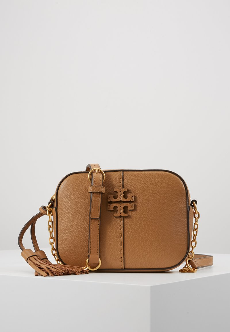 Tory Burch - MCGRAW CAMERA BAG - Umhängetasche - tiramisu