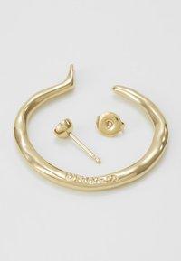 UNOde50 - MY LUCK MEDIUM HOOP EARRING SET - Náušnice - gold-coloured - 3