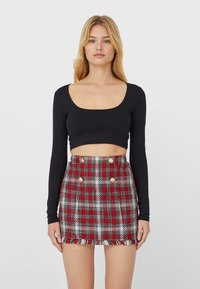 Stradivarius - A-line skirt - red - 0