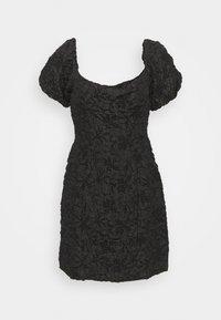 Glamorous Petite - PUFF SLEEVE STRUCTURED MINI DRESS - Cocktailkjoler / festkjoler - black brocade - 0
