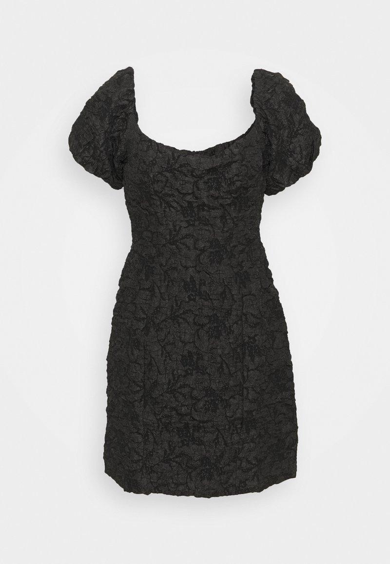 Glamorous Petite - PUFF SLEEVE STRUCTURED MINI DRESS - Cocktail dress / Party dress - black brocade