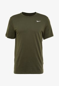 Nike Performance - DRY TEE CREW SOLID - Basic T-shirt - cargo khaki/white - 4
