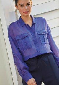 Next - Button-down blouse - blue-grey - 1