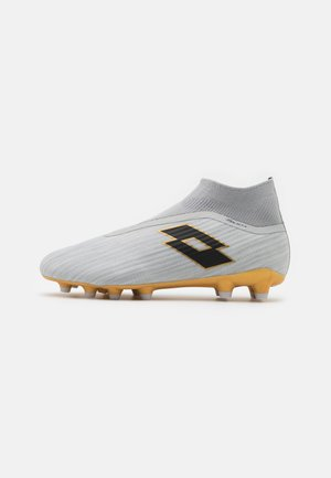 SOLISTA 300 GRAVITY FG - Botas de fútbol con tacos - vapor gray/all black/light platino