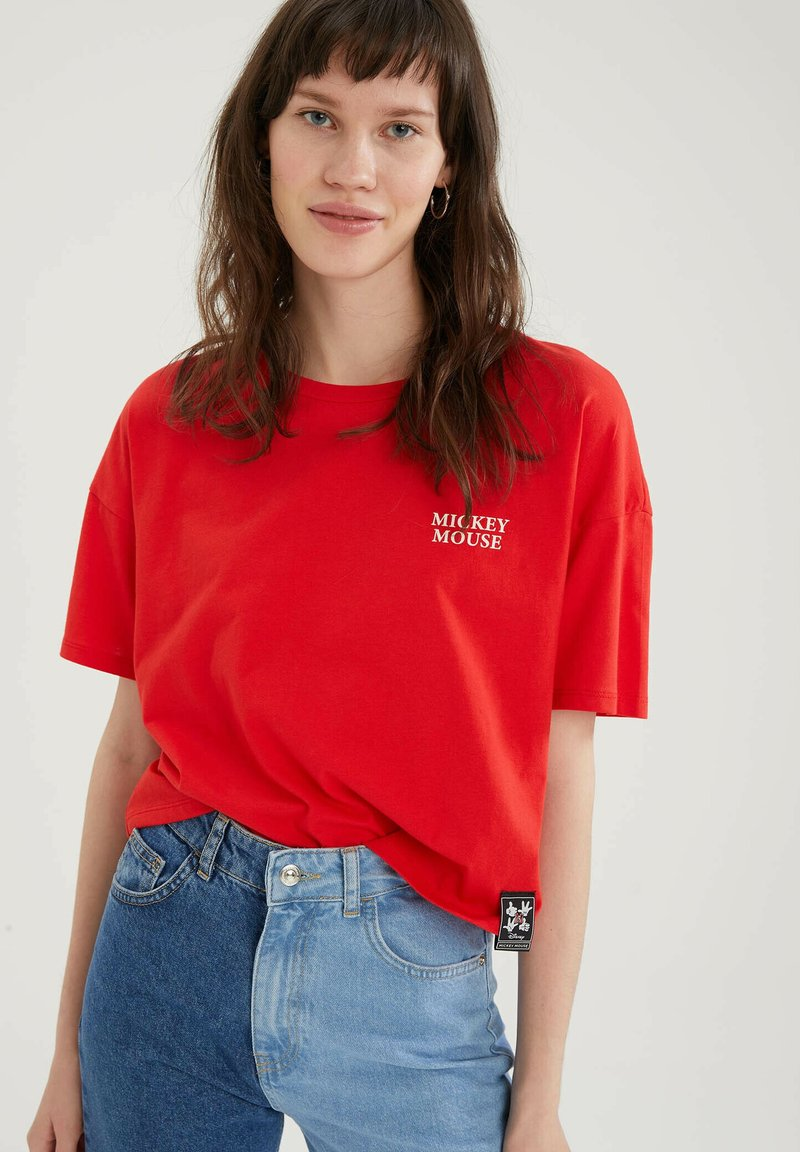 DeFacto - DISNEY - Print T-shirt - red