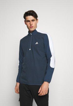 PRINT 1/4 ZIP - Sweatshirt - crew navy/black