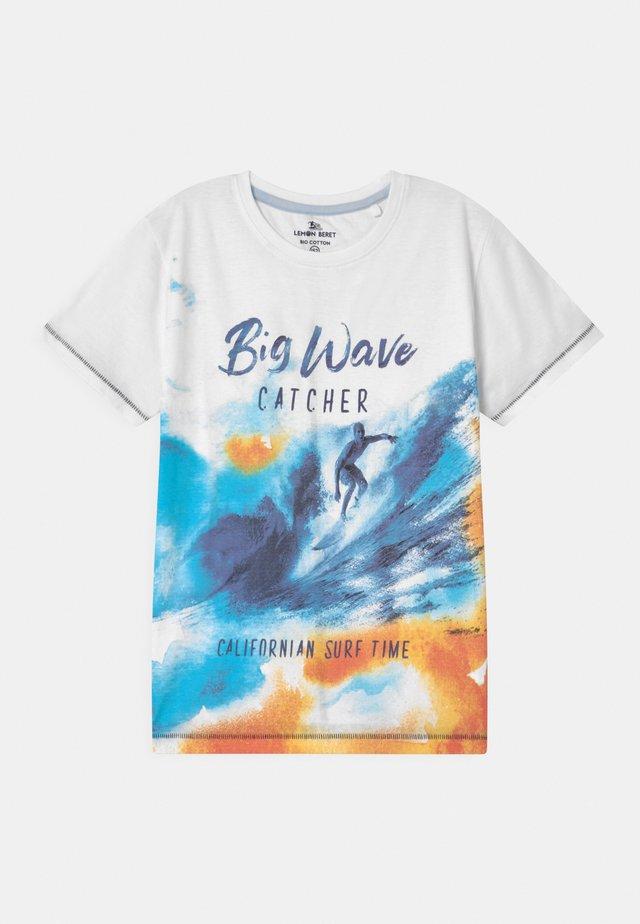 TEEN BOYS  - T-shirt imprimé - optical white