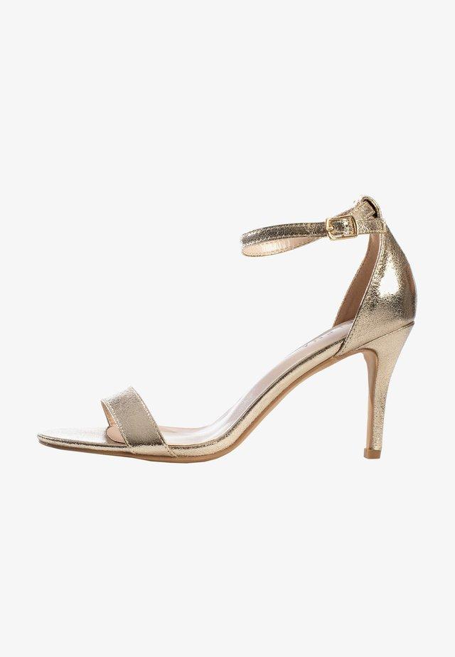 CELIA - Sandalen met hoge hak - gold