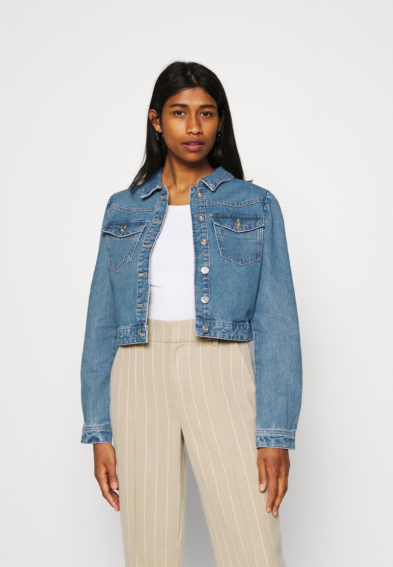 Pieces - PCGREYSON JACKET - Denim jacket - light blue denim
