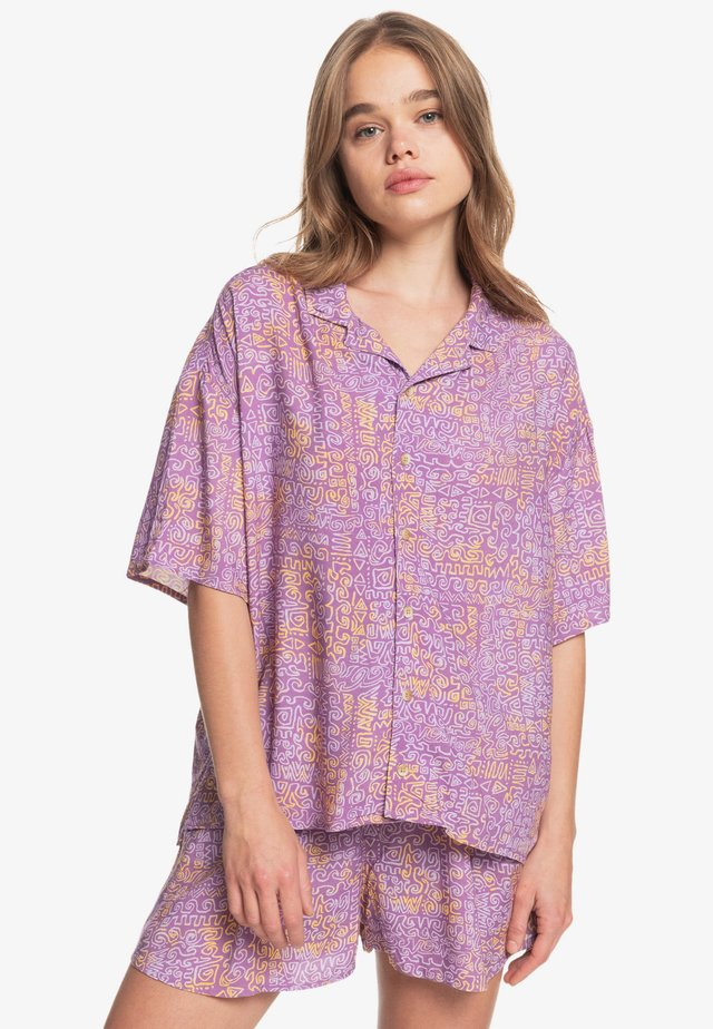 SUNNY RIDE  - Button-down blouse - pastel lilac tribal paint