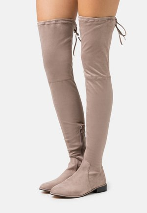 FLAT BOOTS - Over-the-knee boots - mocha