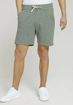 Shorts - smooth green black melange