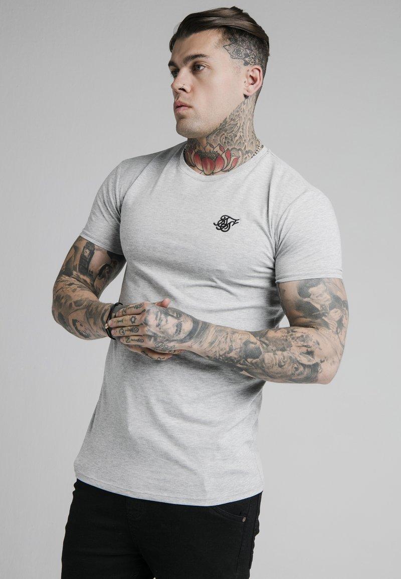 SIKSILK - SHORT SLEEVE GYM - T-shirt basic - grey marl