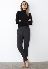 Kaffe - NANCI JILLIAN - Trousers - dark grey melange - 0