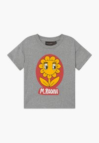 Mini Rodini - FLOWER  TEE - Print T-shirt - grey melange - 0