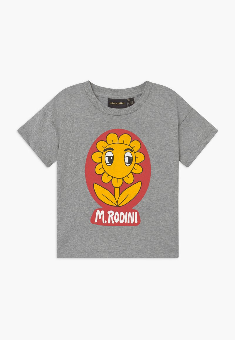 Mini Rodini - FLOWER  TEE - Print T-shirt - grey melange