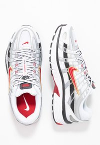 Nike Sportswear - P-6000 - Sneakers - white/varsity red/metallic platinum - 5
