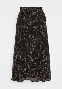 A-line skirt - black dark