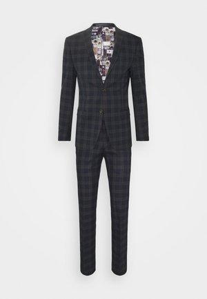 CHECK SUIT - Suit - navy