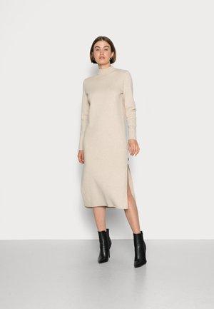 RIAZALF WOMAN DRESS - Gebreide jurk - linen melange
