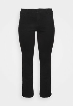 LEG LONG - Straight leg jeans - black