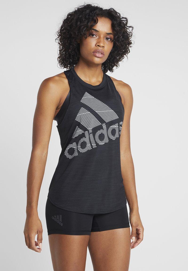 adidas Performance - BOS LOGO TANK - Topper - black