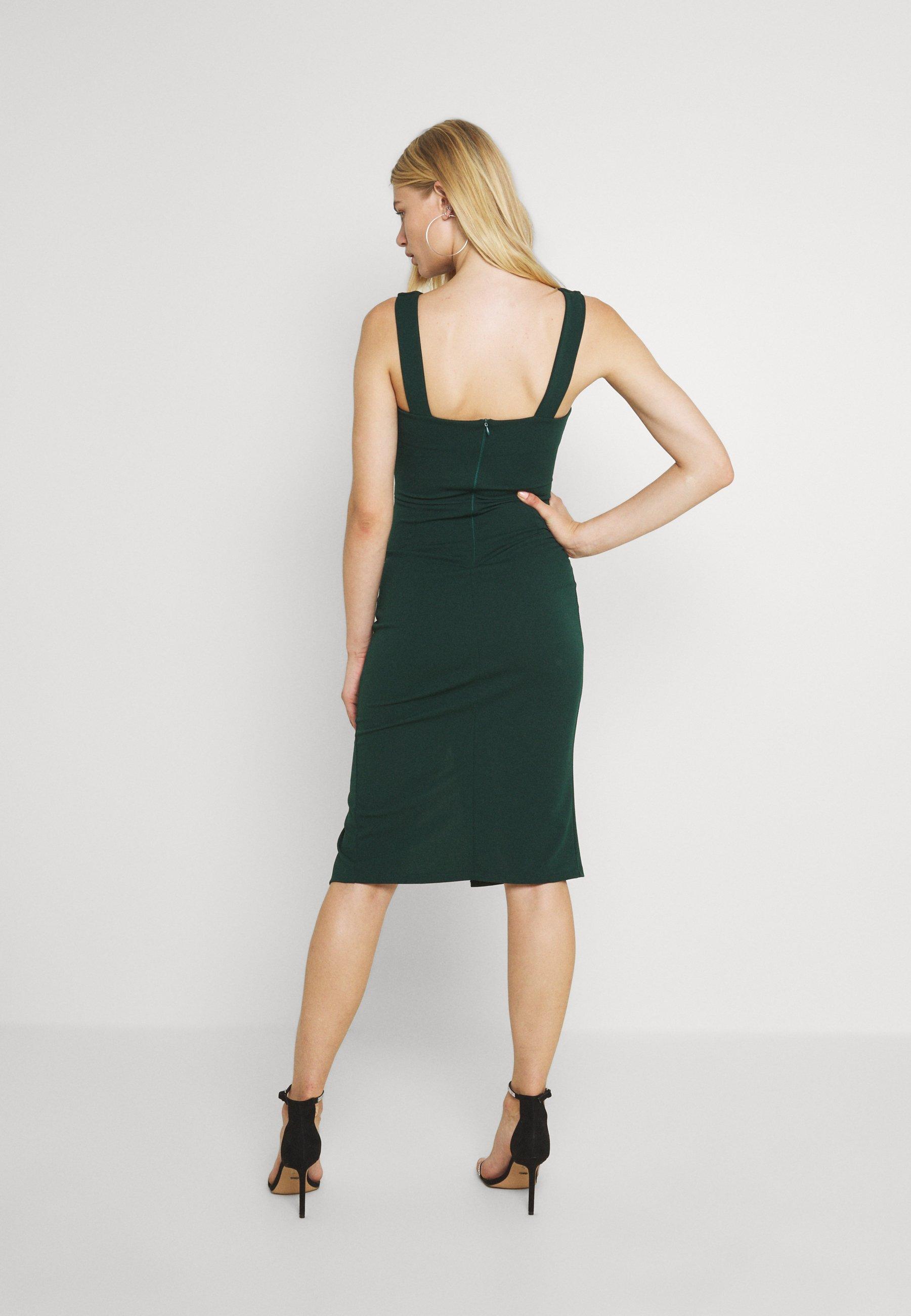 Women V NECK PLUNGE MIDI DRESS - Jersey dress