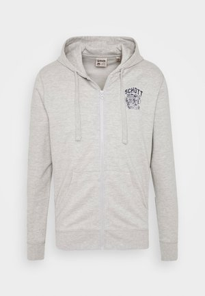 Felpa aperta - heather grey
