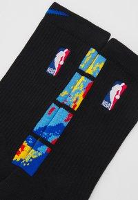 Nike Performance - NBA BROOKLYN NETS CITY EDITION ELITE CREW SOCK - Sports socks - black/royal blue - 1