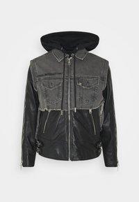 Diesel - L-IVAN JACKET - Leather jacket - black - 0