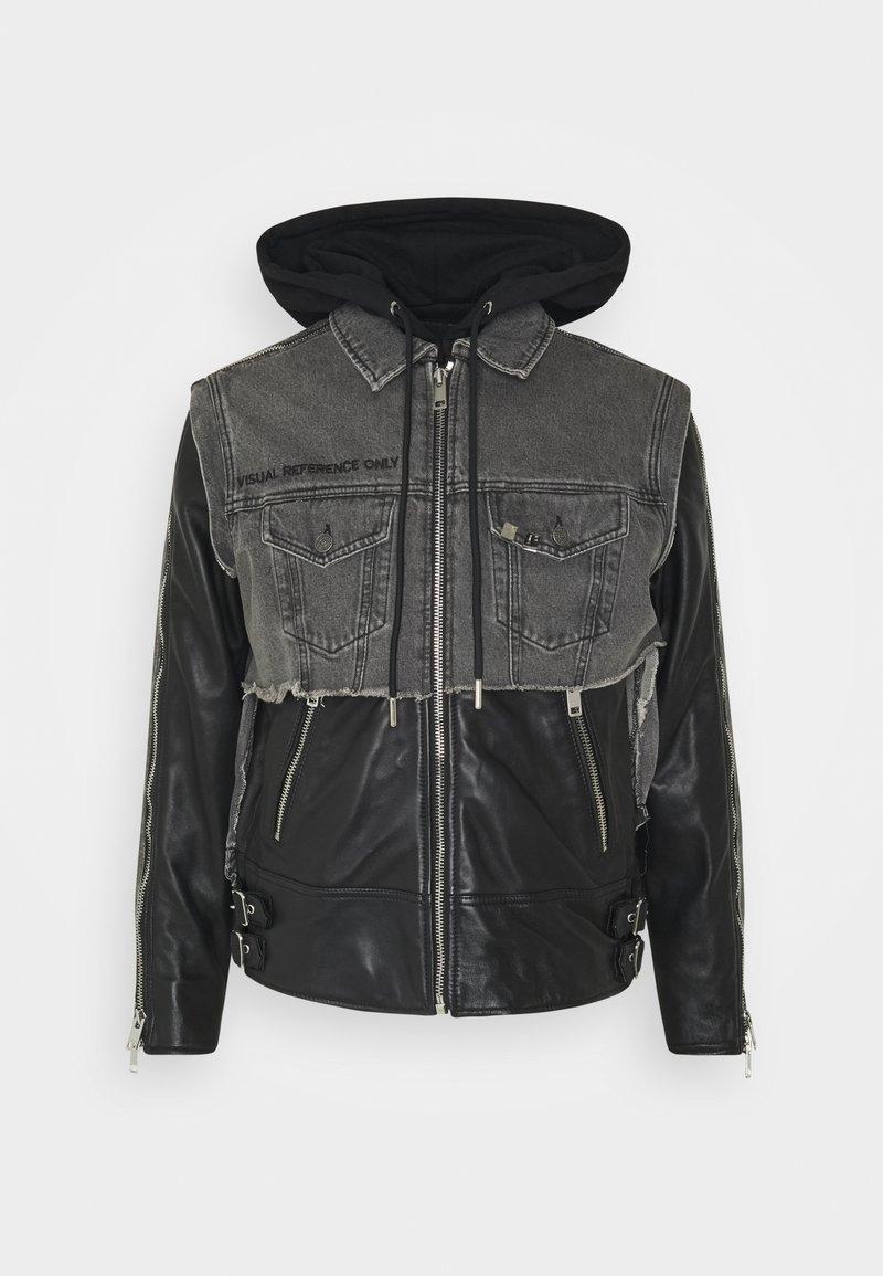 Diesel - L-IVAN JACKET - Leather jacket - black