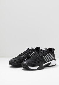 K-SWISS - HYPERCOURT SUPREME HB - Tenisové boty na antuku - black/white - 2