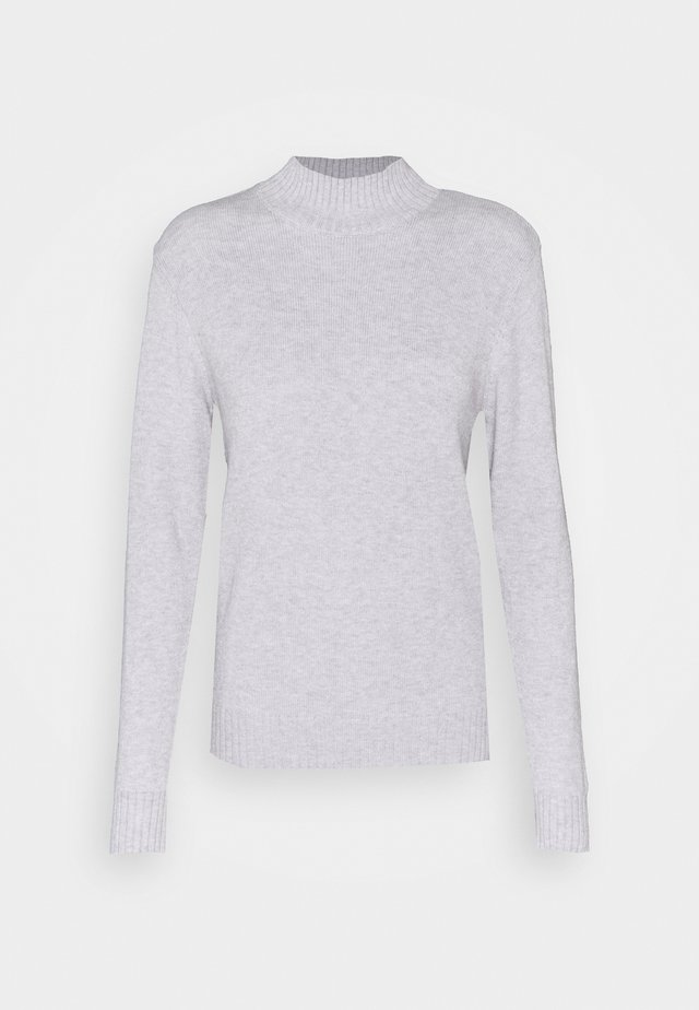 VIRIL TURTLENECK - Pullover - light grey melange
