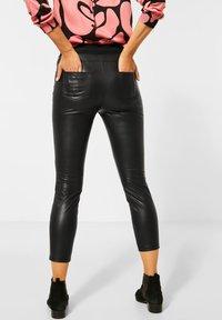 Street One - Leather trousers - schwarz - 2