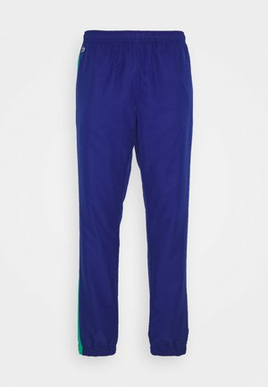 TENNIS PANT - Tracksuit bottoms - cosmic/greenfinch/white/black