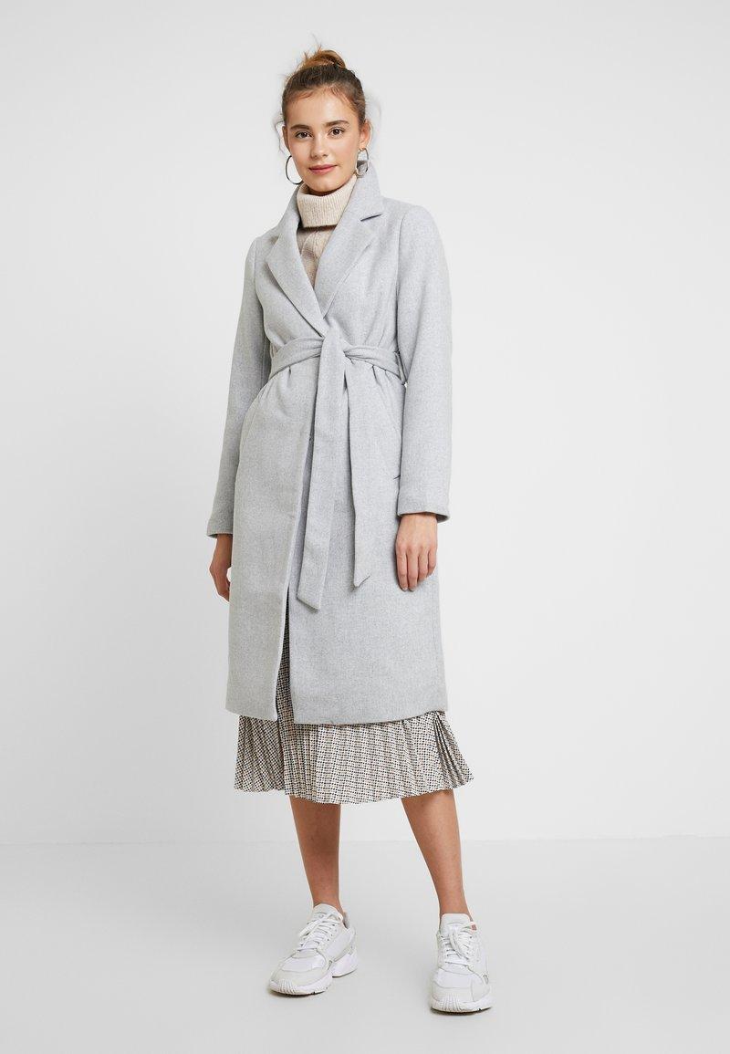 New Look - GABRIELLE BELTED COAT - Kappa / rock - light grey